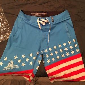 2784e467d8 Freedom Industries Swim | American Flag Board Shorts | Poshmark