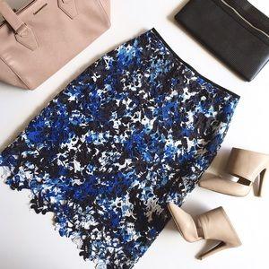 T Tahari Dresses & Skirts - T Tahari Sapphire Floral Overlay Pencil Skirt, 4