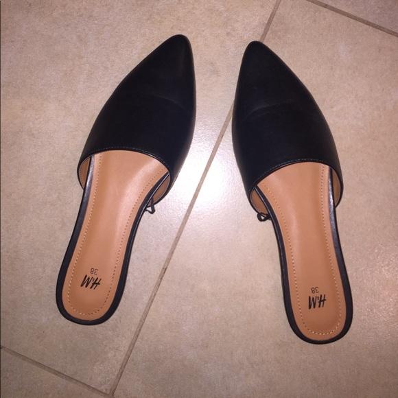 H\u0026M Shoes   Hm Brand New Black Mule