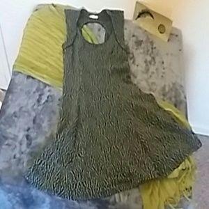 Unique stretchy back cutout dress