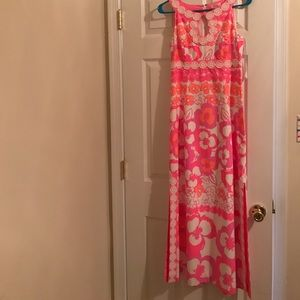 Lilly Pulitzer Pink and Orange Maxi Dress
