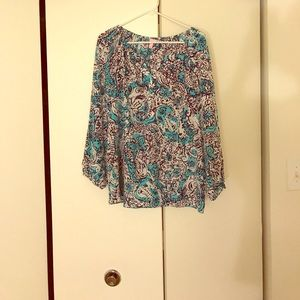 New Lilly Pulitzer Blouse L 100% silk