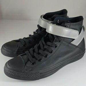 Converse Black Reflective Hi Top Shoes Women?s 8.5