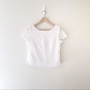 Lilly Pulitzer for Target cropped eyelet shirt