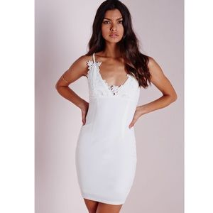 Missguided Dresses & Skirts - NWT Missguided Flower Appliqué Bust Dress