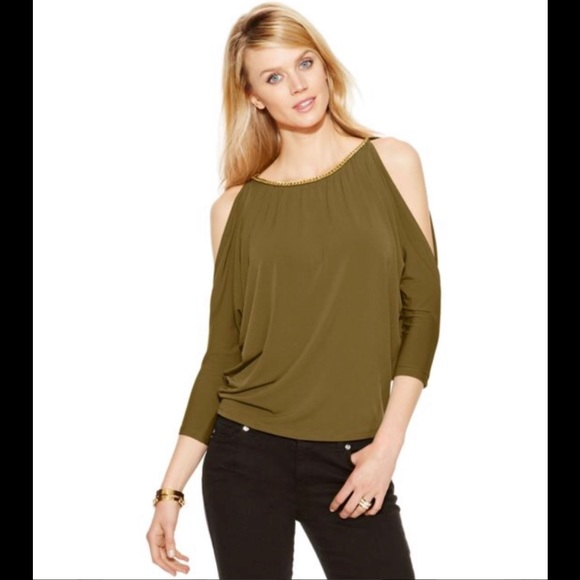 6fbca01343b NEW Michael by MK Cold Shoulder Top