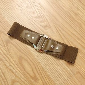Accessories - Chocolate brown stretchy belt