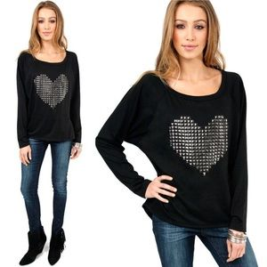 Tobi Cyber Love Raglan Terry Top
