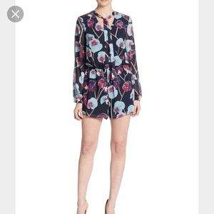 1. State Pants - 1.STATE floral long sleeve bow romper EUC