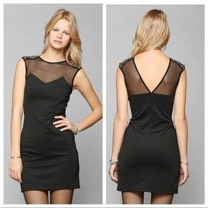 Urban Outfitters Embellished Bodycon Black Dress