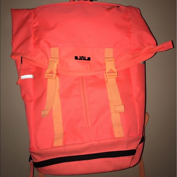 Lebron James Nike Ambassador neon backpack gym bag.  M 592cc6b5f0928248c5026d23 ec429a0a5d