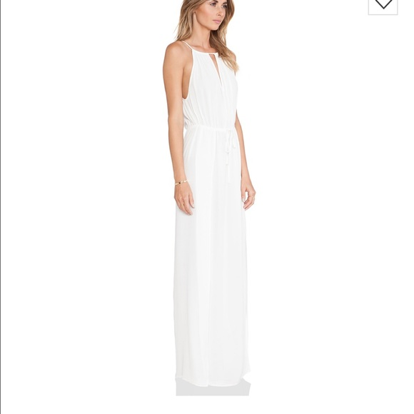 Le Salty Label Dresses - Le Salty Label white crepe maxi dress