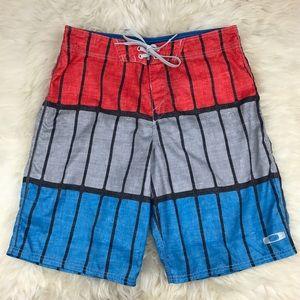 """Oakley Other - Oakley Mens Striped 21"""" Board Shorts Swim Trunks"""