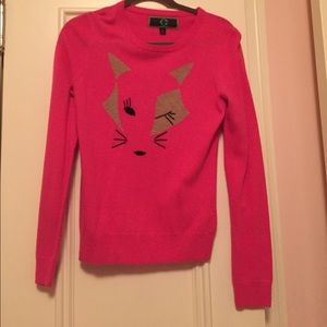 Cobian Sweaters - C. Wonder pink fox sweater