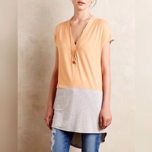 Anthropologie Colorblock Tunic