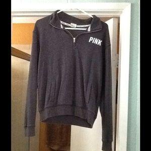 XS Pink Victoria secret half zip sweater