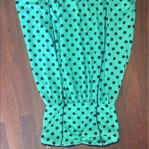 Xhilaration Dresses & Skirts - Strapless blue polka dot dress worn once