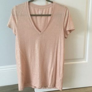 J. Crew Vintage cotton t-shirt in metallic