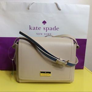 Kate Spade Avva Arbour Hill Crossbody Bag Beige