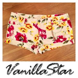 Vanilla Star Pants - Vanilla Star Floral Denim Distressed Booty Shorts!