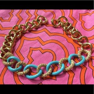 Jewelry - Turquoise and gold accent chain necklace