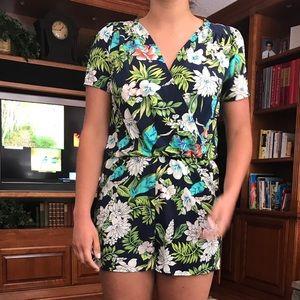 Sage Dresses & Skirts - Floral Romper