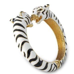 Kenneth Jay Lane Jewelry - Kenneth Jay Lane White Tiger Bangle