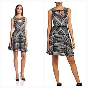 Jessica Simpson TRibal Print Fit and Flare Dress