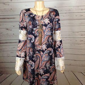 Reborn boho dress or long tunic size XL