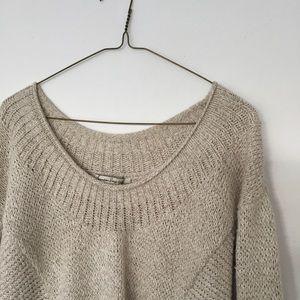 American Rag Sweaters - American Rag Tan Quarter-Sleeve Sweater