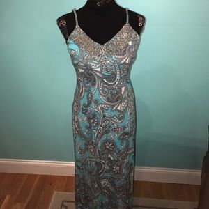 INC International Concepts Dresses & Skirts - Aqua paisley maxi dress