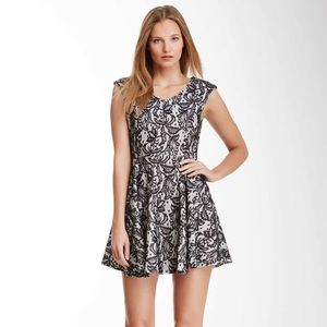 Romeo & Juliet Couture Black and White Lace Dress