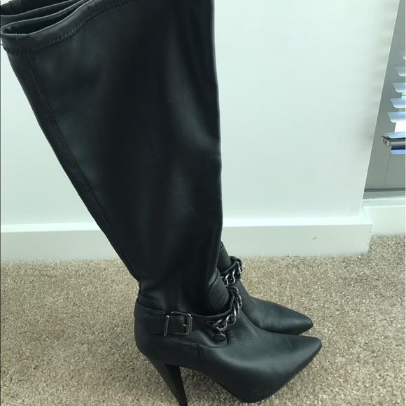 80 bcbg shoes bcbg black knee high boots from megan