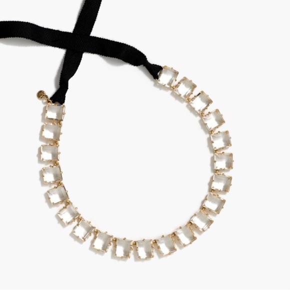 58 off j crew jewelry j crew crystal ribbon tie for Ribbon tie necklace jewelry