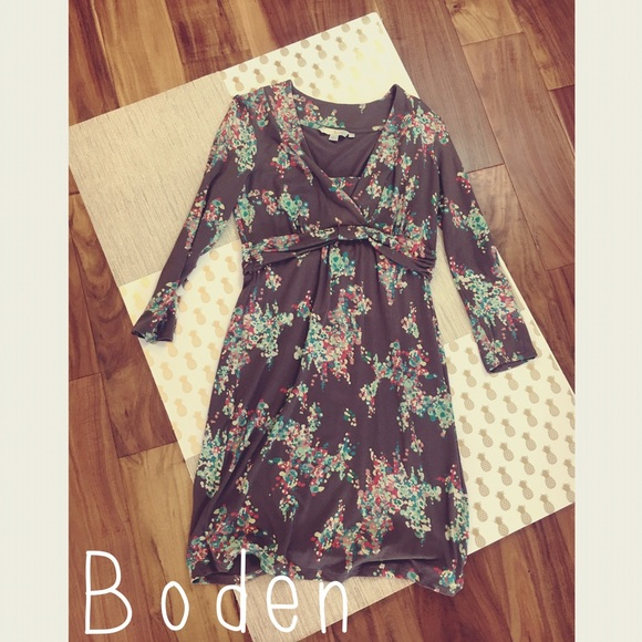 75 off boden dresses skirts boden long sleeve floral for Boden jersey dress
