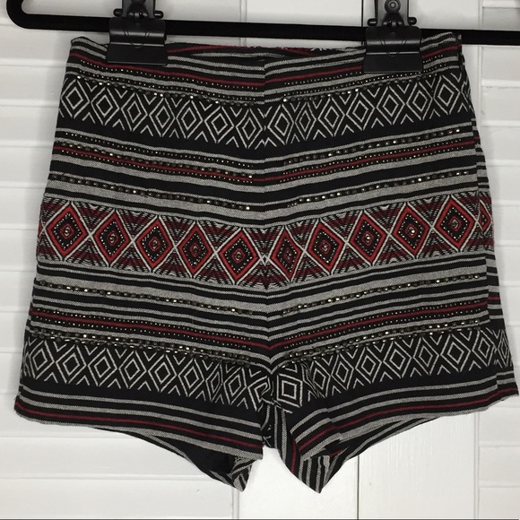 Pants - H&M Divided High Waist Aztec Print with Beading