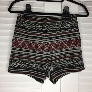 Shorts - H&M Divided High Waist Aztec Print with Beading