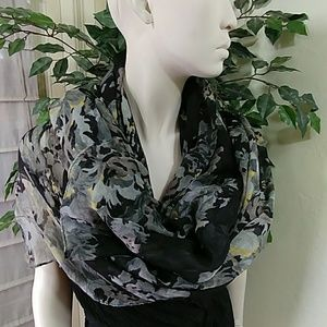 Charlotte Ruse Floral Blue Scarf