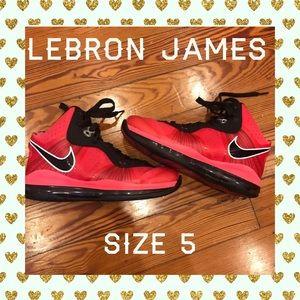 Pink Nike Lebrons