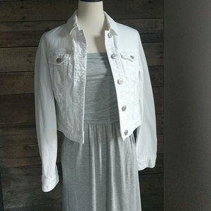 American Eagle Outfitters Jackets & Blazers - AEO White Jean Jacket