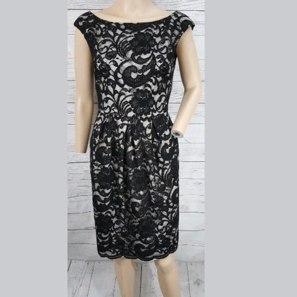 8f56176db73b Eliza J Dresses   Skirts - Eliza J black lace overlay cocktail dress 6