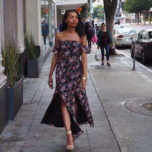 Floral Strapless Maxi Dress