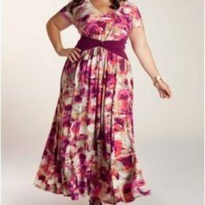 Igigi Dresses & Skirts - Igigi pink/purple floral maxi dress NWOT