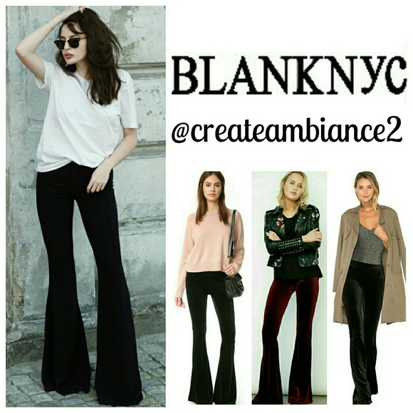 8842fc84e48f2 Blank NYC Velvet Pull-on Dramatic Flare Pants