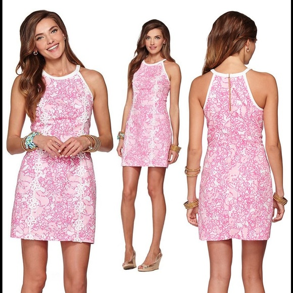 ccb776a10cfc05 Lilly Pulitzer Dresses & Skirts - Lilly Pulitzer Pearl Halter Shift Dress