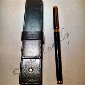 Montblanc Accessories - 💯Authentic Montblanc Pen and Leather Case✒️