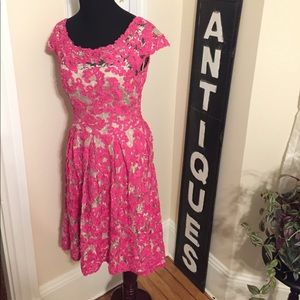 Anthropologie Dresses & Skirts - Anthropologie Rose Dress Pink Nude Fit & Flare