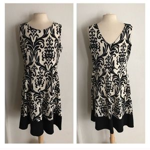 Dresses & Skirts - 2 LEFT! (Plus) Damask fit and flare dress