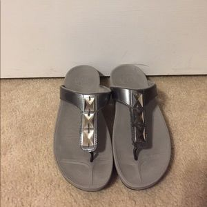Gray Fitflops with Sequins