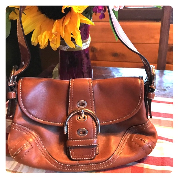 8c92b63942b9fc 85% off Coach Handbags - Camel color leather Coach shoulder bag from  Priscilla'